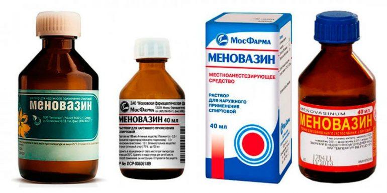 меновазин раствор при геморрое