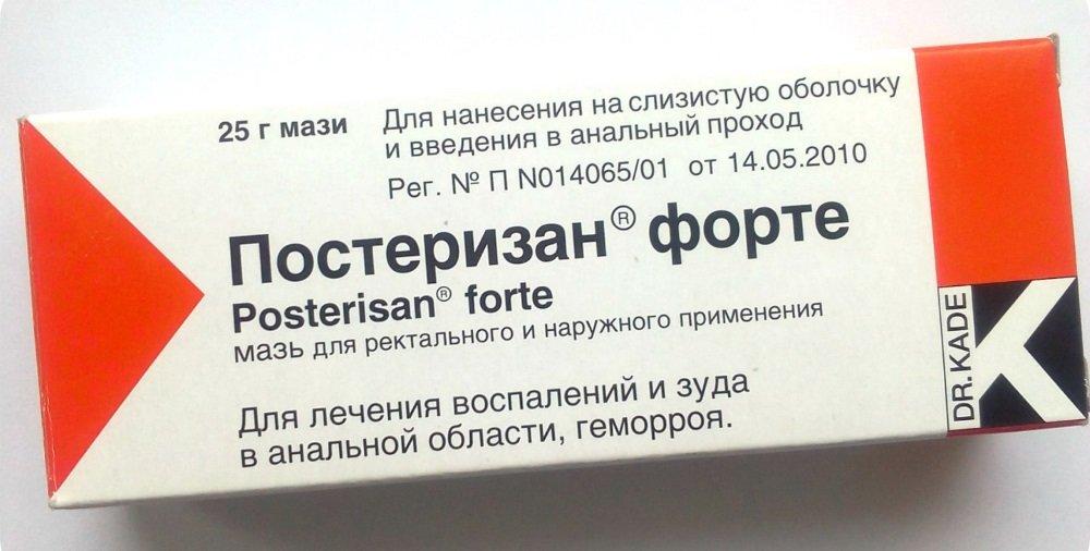 Постеризан при геморрое: эффективность, применение мази и свечей, противопоказания